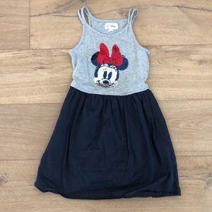 Gap kids size 8, navy & grey Minnie Mouse dress.